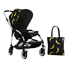 Buy Bugaboo Bee 3 Andy Warhol Sun Canopy & Tote Bag, Banana/Black Online at johnlewis.com