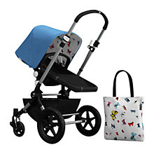 Buy Bugaboo Chameleon3 Andy Warhol Sun Canopy & Tote Bag, Blue/Butterflies Online at johnlewis.com
