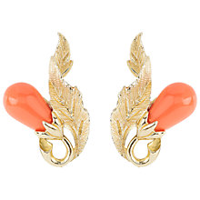 Buy Susan Caplan Vintage 1960s Trifari Coral Earrings Online at johnlewis.com