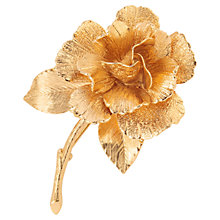 Buy Susan Caplan Vintage 1960s Monet Sculpted Rose Brooch, Gold Online at johnlewis.com