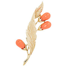 Buy Susan Caplan Vintage 1960s Sarah Coventry Faux Coral Brooch Online at johnlewis.com