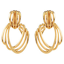 Buy Susan Caplan Vintage 1970s Monet Modernist Earrings, Gold Online at johnlewis.com