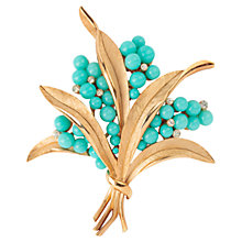 Buy Susan Caplan Vintage 1950s Trifari Swarovski Crystal Faux Turquoise Bouquet Brooch Online at johnlewis.com
