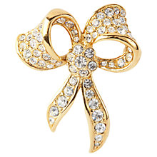 Buy Susan Caplan Vintage 1980s Attwood & Sawyer Swarovski Crystals Bow Brooch Online at johnlewis.com