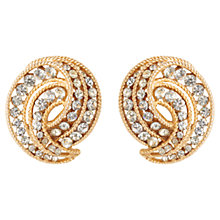 Buy Susan Caplan Vintage 1950s Trifari Textured Twist Swarovski Crystal Clip-On Earrings Online at johnlewis.com