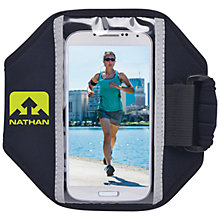 Buy Nathan iPhone/Samsung Phone Runner Armband, Black Sulphur Spring Online at johnlewis.com
