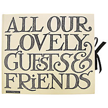 Buy Emma Bridgewater Toast Guest Book, Black Online at johnlewis.com
