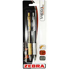 Buy Zebra Sarasa Metallic Gel Ink Rollerball Pen, Gold/Silver, Pack of 2 Online at johnlewis.com