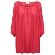 Buy East Short Sleeve Linen Blouse, Coral Online at johnlewis.com