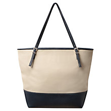 Buy East Sheena Contrast Tote Bag, Indigo Online at johnlewis.com