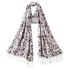 Buy East Suzi Intricate Floral Print Scarf, Multi Pink Online at johnlewis.com