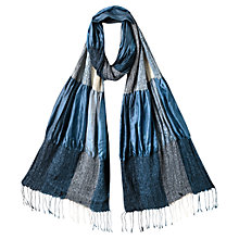 Buy East Silk Ruched Scarf, Ocean Online at johnlewis.com