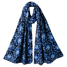 Buy East Julia Large Floral Print Scarf, Ink Online at johnlewis.com