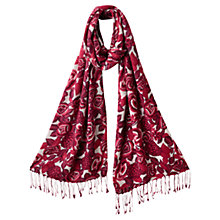 Buy East Marlene Floral Printed Scarf, Coral Online at johnlewis.com