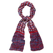 Buy Viyella Scratchy Print Scarf, Cherry Online at johnlewis.com