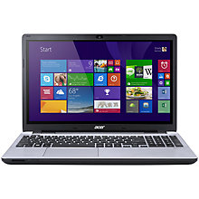 "Buy Acer Aspire V3-572G Laptop, Intel Core i7, 8GB RAM, 1TB, 15.6"", Silver + Norton 360 Online at johnlewis.com"