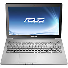 "Buy Asus N550JK Laptop, Intel Core i7, 8GB RAM, 1TB, 15.6"" Touch Screen, Silver Online at johnlewis.com"