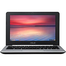 "Buy Asus C200 Chromebook, Intel Celeron, 2GB RAM, 16GB SSD, 11.6"", Black Online at johnlewis.com"