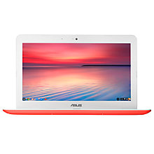 "Buy Asus C300 Chromebook, Intel Celeron, 2GB RAM, 32GB SSD, 13.3"", Black Online at johnlewis.com"
