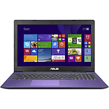 "Buy Asus X553MA Laptop, Intel Celeron, 4GB RAM, 1TB, 15.6"", Purple + Norton 360 Online at johnlewis.com"