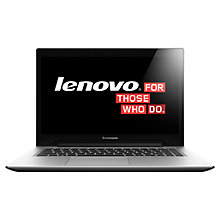 "Buy Lenovo U430 Ultrabook, Intel Core i7, 8GB RAM, 500GB + 8GB SSHD, 14"" Touch Screen, Grey Online at johnlewis.com"