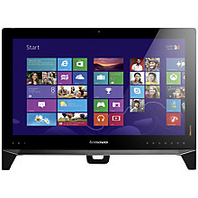 "Buy Lenovo B550 All-in-One Desktop PC, Intel Core i5, 8GB RAM, 1TB + 8GB SSHD, 23"" Touch Screen, Black Online at johnlewis.com"