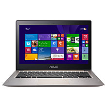 "Buy Asus Zenbook UX303LA Laptop, Intel Core i7, 6GB RAM, 128GB SSD, 13.3"", Silver + Norton 360 Online at johnlewis.com"