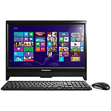 "Buy Lenovo C260 All-in-One Desktop PC, Intel Pentium, 8GB RAM, 1TB, 20"" Touch Screen, Black Online at johnlewis.com"