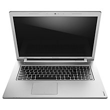 "Buy Lenovo Z710 Laptop, Intel Core i7, 12GB RAM, 1TB + 8GB SSHD, 17.3"", Black & Silver Online at johnlewis.com"