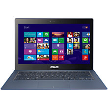 "Buy ASUS Zenbook UX301LA Ultrabook, Intel Core i7, 8GB RAM, 256GB SSD, 13.3"" Touch Screen, Dark Blue Online at johnlewis.com"