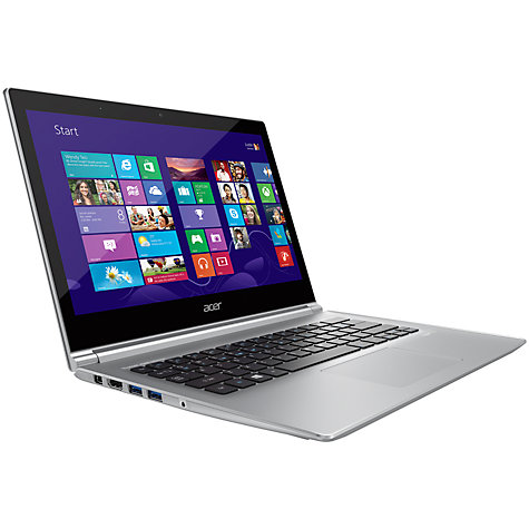 "Buy Acer Aspire S3-392 Ultrabook, Intel Core i5, 4GB RAM, 1TB + 16GB SSD, 13.3"" Touch Screen, White Online at johnlewis.com"