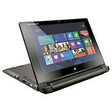 "Buy Lenovo Flex 10 Dual-Mode Laptop, Intel Celeron, 4GB RAM, 320GB, 10.1"" Touch Screen, Black Online at johnlewis.com"