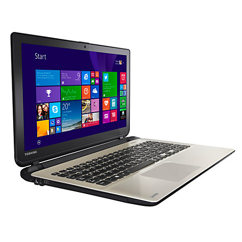 "Buy Toshiba Satellite L50t-B-12U Laptop, Intel Core i7, 8GB RAM, 1TB, 15.6"" Touch Screen, Light Gold Online at johnlewis.com"