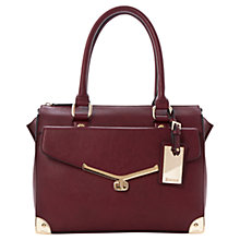 Buy Dune Dorisey Front Pocket Turnlock Day Bag, Berry Online at johnlewis.com