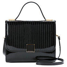 Buy Ted Baker Savanah Quilted Top Handle Across Body Bag, Black Online at johnlewis.com