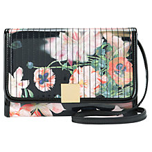 Buy Ted Baker Opulent Bloom Ipad Across Body Bag, Black Online at johnlewis.com