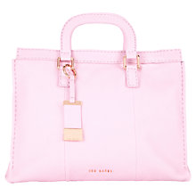 Buy Ted Baker Tottier Leather Stab Stitch Tote Bag, Dusky Pink Online at johnlewis.com