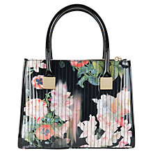 Buy Ted Baker Odele Opulent Bloom Print Tote Bag, Black Online at johnlewis.com