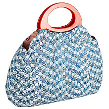 Buy John Lewis Malmo Sewing Bag, Blue/White Online at johnlewis.com