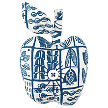 Buy John Lewis Malmo Apple Pin Cushion, Blue/White Online at johnlewis.com