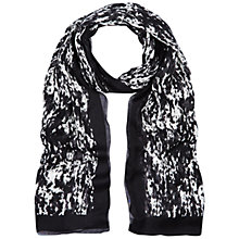 Buy Hobbs Water Print Scarf, Ivory/Black Online at johnlewis.com