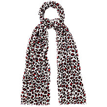 Buy Jaeger Printed Leopard Scarf Online at johnlewis.com