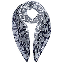 Buy Hobbs Swallow Print Scarf, Navy/Ivory Online at johnlewis.com