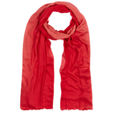 Buy Hobbs Two Tone Scarf, Red/Multi Online at johnlewis.com