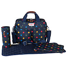 Buy Cath Kidston Button Spot Zip Bag, Navy Online at johnlewis.com