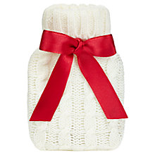 Buy Cable Knit Mini Hand Warmer, Cream Online at johnlewis.com