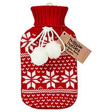 Buy Fair Isle Hot Water Bottle, Red/White Online at johnlewis.com