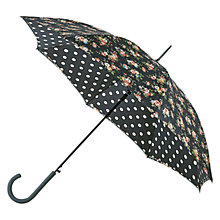Buy Cath Kidston Bloomsbury Kingswood Rose Umbrella, Blue Online at johnlewis.com