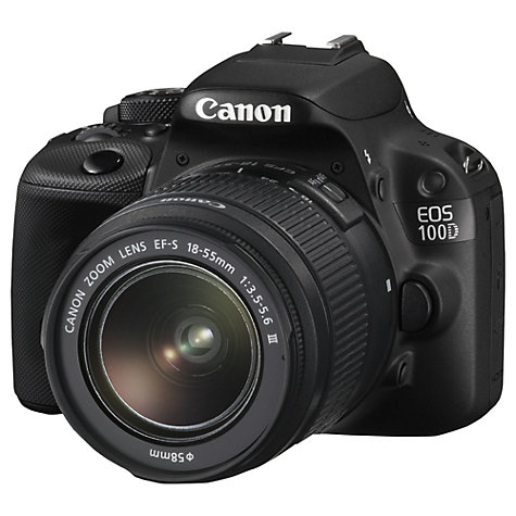 Buy Canon EOS 100D Digital SLR Camera with 18-55  amp  75-300mm Lenses  HD    Canon Hd Camera 1080p
