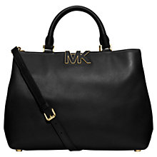 Buy MICHAEL Michael Kors Florence Large Leather Satchel Bag Online at johnlewis.com